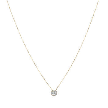 Mini Lauren Joy Diamond Disc Necklace