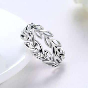 Sterling Silver Wreath Ring