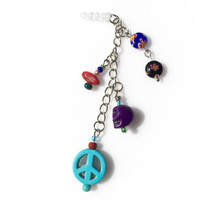 Peace! Love! Skull Dust Plug Kawaii Dangle Charms