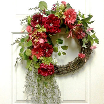 Dark Pink Sparkle Jewel Wreath