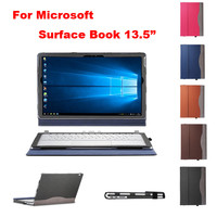 "2016 new style creative design PU leather case cover for Microsoft Surface Book 13.5"" protective Cover + Keyboard cover+Film"