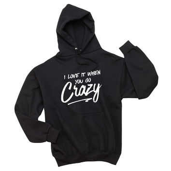 "Shawn Mendes ""There's Nothing Holdin' Me Back - I love it when you go crazy."" Unisex Adult Hoodie Sweatshirt"