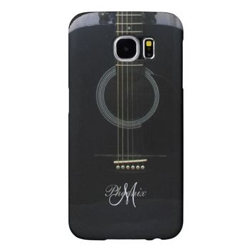 Personalized Black Acoustic Guitar Music S6 Case Samsung Galaxy S6 Cases