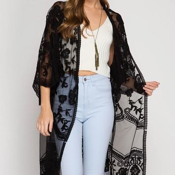 Summer Haze Duster - Black