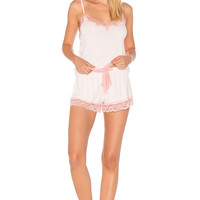 Flora Nikrooz Snuggle Cami & Short Set in Misty Pink