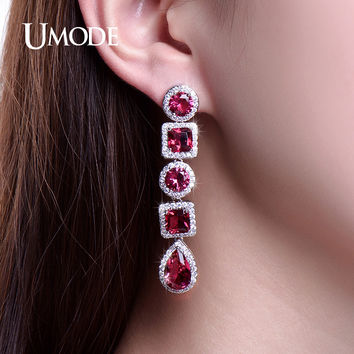 UMODE Retro Drop Earrings Three Colors Classic Jewelry Long Dangle Earings Women Mothers' Gifts Aros UE0251
