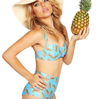Pineapple Sundae High Waist Retro Bikini