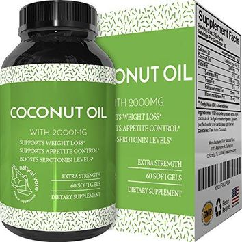 SHIP BY USPS: Pure Extra Virgin Cold Pressed Coconut Oil Pills for Weight Loss - Supplements for Immune System &...