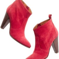 Madewell Old Town Boots in Red Suede- Found on Bib + Tuck