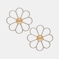 Cheap Monday Hollow Daisy Clip On Earrings