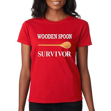 Funny Shirts; Wooden Spoon Survivor Cotton Basic Tee