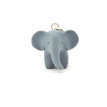 elephant pendant polymer clay miniature elephant totem necklace