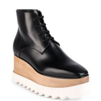 Stella McCartney - Faux Leather Platform Oxfords