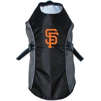 DCCKT9W San Francisco Giants Water Resistant Reflective Pet Jacket