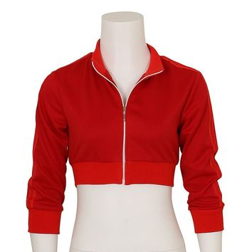 Halloween Women's Pokemon Go Trainer Red Hoodie Zipper Costume Cosplay Team Valor Instinct Mystic