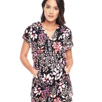 P.Blk/Azalea Ever Ever After Floral Hood Tunic by Juicy Couture,