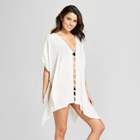 Women's Woven Embroidered Trim Cover Up Dress - Xhilaration™ White