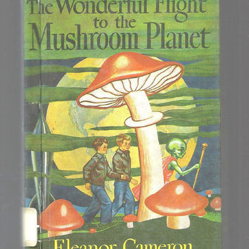 Mushroom Planet Mr. Bass Vintage Children's/Young Adult Science Fiction, Wonderful Flight To Mushroom Planet, 1954 Vintage Book, Hardcover