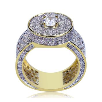 Iced Out Cluster Micro Pave Ring