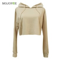 Fashion Short Hoodie Sweatshirt Jumper Long Sleeve Crop Top Pullover Tops Hoodies Women Hoodie Sweatshirt Women