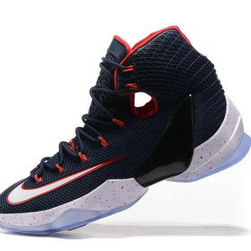 How To Buy Lebron 13 XIII Elite USA Navy Red Brand sneaker