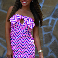 HOPE'S: Electric Static Dress: Neon Pink | Hope's