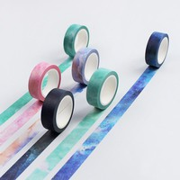 8m*15mm DIY Cute Kawaii Masking Washi Tape Creative Star Decorative Adhesive Duct Tape For Scrapbooking Free Shipping 3083