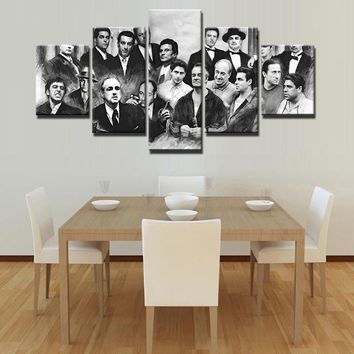 Legendary Gangsters 5 Piece Canvas