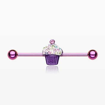 Colorline Cupcake Delight Multi-Gem Industrial Barbell