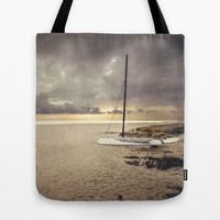 Dramatic sunrise on the beach Tote Bag by Architect´s Eye | Society6