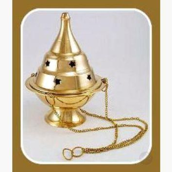 Hanging Brass Censer Incense Burner
