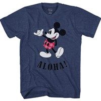 Disney Mickey Mouse Hawaii Aloha Mickey Men's T-Shirt