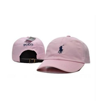 Pink Polo Ralph Lauren Embroidered Baseball Caps Hat