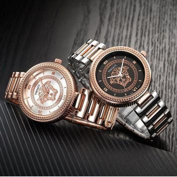 ONETOW Versace fashionable men and women fashion quartz movement watch F