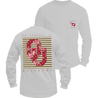 OU white floral- long sleeve
