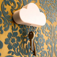 Fashion style Creative White Cloud Shape Magnetic Key Holder