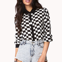 Checkered Chiffon Shirt