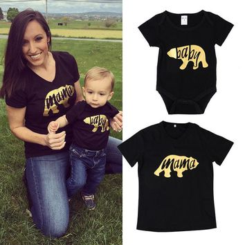 Mama Bear Baby Bear T-shirt Tops
