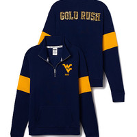 West Virginia University Bling Half-Zip Pullover - PINK - Victoria's Secret