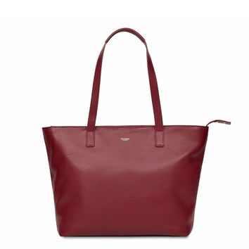 "Knomo - Mini Maddox Burgundy Leather 13"" Tote"