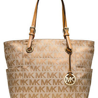 MICHAEL Michael Kors Handbag, Block Monogram Signature Tote - Handbags & Accessories - Macy's