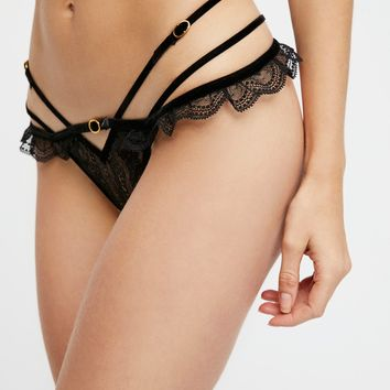 Free People Evie Lace Thong