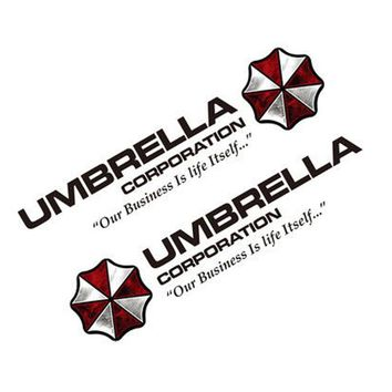 Noizzy 1 Pair Umbrella Corporation Resident Evil Ho Zombie Car Auto Decal Sticker Vinyl Reflective Side Door Logo Car Styling