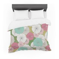 "Michelle Drew ""Parasol Flowers "" Pastel Abstract Featherweight Duvet Cover"