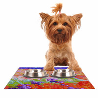 "Jeff Ferst ""Earthly Delights"" Floral Abstract Dog Place Mat"