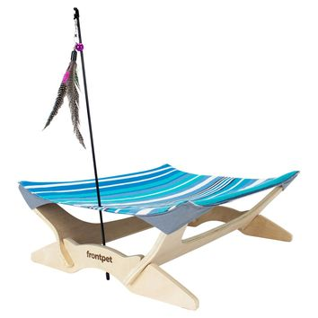 Frontpet Canvas Cat Hammock Bed, Luxury Lounger for Cats and Small Dogs