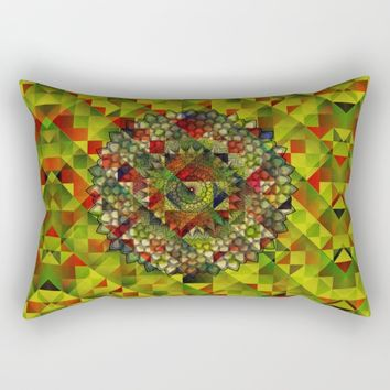Mandala in structure pattern Rectangular Pillow by Jeanette Rietz