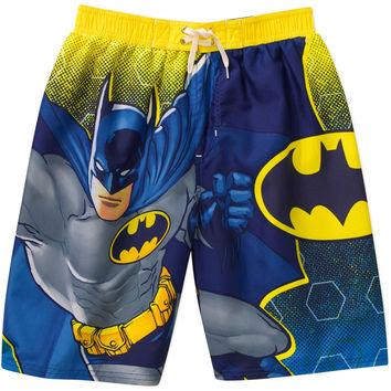 DC Comics Batman Boys' Swim Shorts summer swim trunks