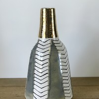 Stripe + Arrow Vase