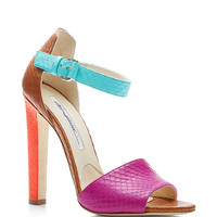 Iosy Color-Block Snakeskin Sandals